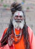 Sadhu Holy man in Varanasi, India Stock Photography