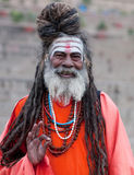Sadhu Holy man in Varanasi, India Royalty Free Stock Photos
