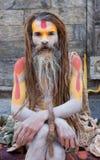 Sadhu (hombre santo) fotografía de archivo