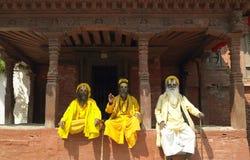 Sadhu - hombres santos - Katmandu - Nepal Fotos de archivo libres de regalías