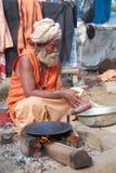 SADHU, HOMENS SANTAMENTE DE INDIA Imagens de Stock