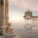 Sadhu i misten Royaltyfria Foton