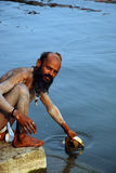 Sadhu In India stock photos