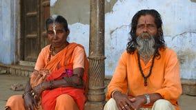Sadhu indiano Fotografia de Stock
