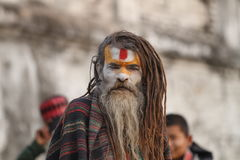 Sadhu indiano Imagens de Stock Royalty Free