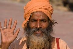 Sadhu indiano fotografia stock libera da diritti