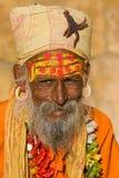 Sadhu indiano (uomo santo) immagini stock libere da diritti