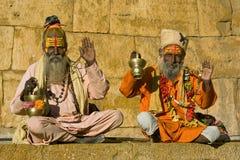 Sadhu indiano (uomo santo) fotografia stock