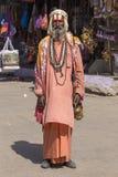 Sadhu indiano - uomo santo Pushkar, India immagine stock libera da diritti