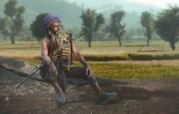 Sadhu indio foto de archivo
