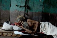 Sadhu indio fotografía de archivo