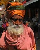 Sadhu indou donne des bénédictions Photo libre de droits
