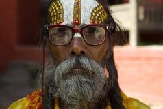 Sadhu in Kathmandu Royalty Free Stock Photos