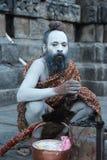 Sadhu in kedar nath temple. Royalty Free Stock Images