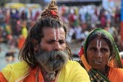 Sadhu a Maha Kumbh Mela Immagini Stock Libere da Diritti