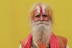 Sadhu a Maha Kumbh Mela fotografia stock