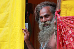 Sadhu a Maha Kumbh Mela Fotografie Stock Libere da Diritti