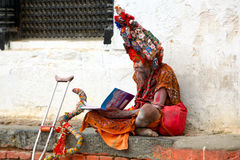 Sadhu man Stock Photos
