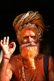 Sadhu man at Pashupatinath, Nepal Stock Photo