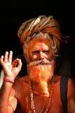 Sadhu man at Pashupatinath, Nepal Stock Photo
