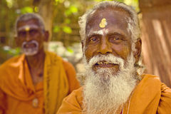 Sadhu men  in  Tiruvanamalai Royalty Free Stock Photo