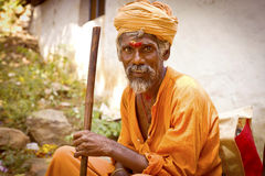 Sadhu men  in  Tiruvanamalai Royalty Free Stock Photos