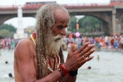 Sadhu modlenie zdjęcia stock