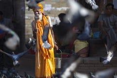 Sadhu nepalés Foto de archivo