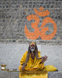 Sadhu with ohm Royalty Free Stock Photography