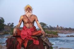 Sadhu Orcha Royaltyfri Bild