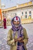 Sadhu på Janaki Mandir Arkivfoto