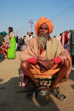 A Sadhu participates at Kumbh Mela Royalty Free Stock Photography