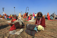 A Sadhu participates at Kumbh Mela Stock Images