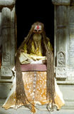 Sadhu, Pashupatinath, Nepal. A Hindi ascetic Sadhu sits still practicing yoga December 17, 1999 in Pashupatinath, Nepal Royalty Free Stock Image