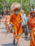 Sadhu pilgrim in Haridwar Royalty Free Stock Photos