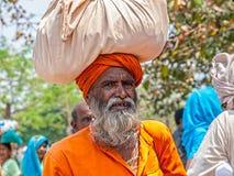 Sadhu pilgrim in Haridwar Stock Photos