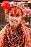 Sadhu santamente em Getup religioso em Pashupatinath Nepal Fotografia de Stock