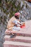 A sadhu sellng beads Royalty Free Stock Photo