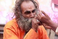Sadhu smoke chillum Royalty Free Stock Photo