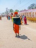 Sadhu standing at Kumbh Mela Stock Images