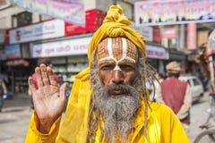 Sadhu on the streets of Kathmandu Royalty Free Stock Photography