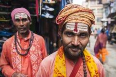 Sadhu on the streets of Kathmandu Royalty Free Stock Photos