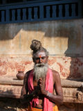 Sadhu in un tempiale Immagini Stock Libere da Diritti