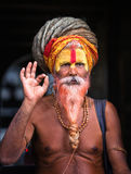 Sadhu - uomo santo Fotografia Stock Libera da Diritti