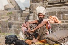 Sadhu, uomo santo al festival 2018 di Mahashivaratri a Pashupatinath Fotografia Stock