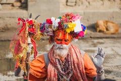 Sadhu, uomo santo al festival 2018 di Mahashivaratri a Pashupatinath Immagine Stock
