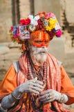 Sadhu, uomo santo al festival 2018 di Mahashivaratri a Pashupatinath Fotografie Stock