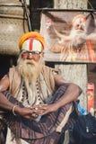 Sadhu, uomo santo al festival 2018 di Mahashivaratri a Pashupatinath Fotografia Stock Libera da Diritti