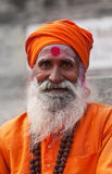 Sadhu van Shaiva in Varanasi Royalty-vrije Stock Foto