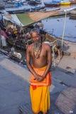 sadhu varanasi Royaltyfri Foto